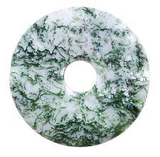 Ágata Árbol Verde Donut Colgante Gema 40mm Piedra de Cristal Pi Curativa