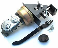 Universal 90 Degree Under Dash Power Brake Booster Pedal & Master Cylinder Kit