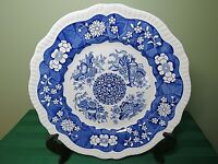 """Spode Plate Trophies Dinner Blue Room Collection England 10 3/4"""" HP5"""