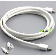 Mini DisplayPort DP 1.2 to Mini DP 1.2 Thunderbolt adapter Cable 3m/10ft White