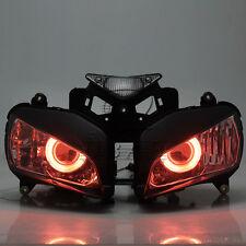 Custom HID Projector Assembled Red Angel Eyes Headlamp For Honda CBR1000RR 04-07