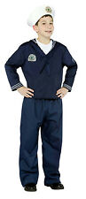 Navy Uniform Military Soldier Sailor Child Costume Med 7-10