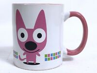 Hallmark Hoops And Yoyo Ceramic 12 oz Coffee Mug 2005 HOOPS Pink White VGUC