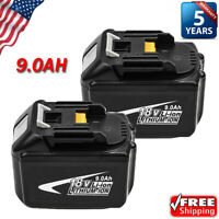2X BL1890 FOR MAKITA 18V 9.0Ah LITHIUM ION BATTERY LXT BL1860 BL1830 BL1850 NEW