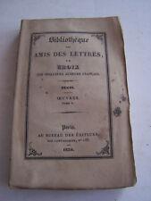 LIVRE ANCIEN POUR COLLECTION , BIBLIOTHEQUE DES AMIS DES LETTRES , DUCIS .1930