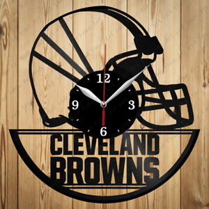 Vinyl Clock Cleveland Browns Handmade Vinyl Record Clock Original Gift 3071