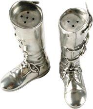 Riding Boots Salt & Pepper Set Pewter Horse Pony Condiment Cruet Shakers Gift