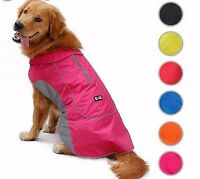Dog Coat Waterproof Jacket Raincoat Suit Small Large Reflective Medium XS XL