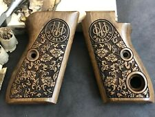 Beretta Mod 70 70S 71 Puma Turkish Root Walnut Wood Grips Hand Made. Floral.