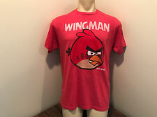 Angry birds mens tshirt short sleeve large red