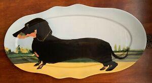 SALLY MUIR Anthropologie DACHSHUND Dog Dog-a-Day Stoneware Plate Platter