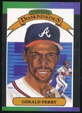 1989 Donruss Diamond Kings #22 Gerald Perry Atlanta Braves