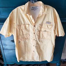 COLUMBIA Sportswear Company Yellow Performance Fishing Medium Cotton Pockets
