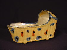 EXTREMELY RARE LARGE ANTIQUE c1790 CHILDS CRADLE PRATT WARE YELLOW WARE