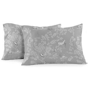 Heavyweight Flannel Pillowcase Sets (Pair) - Pen Drawing Deer