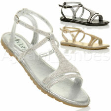 Sandali e scarpe slim casual tessili per il mare da donna