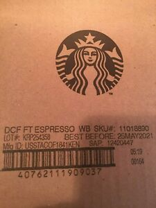 Starbucks DECAFEW FT Espresso Whole Bean Coffee  4 pounds- 2 Pack  Exp. May 2021