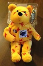 1999 SALVINO'S BAMMERS SAN DIEGO CHARGERS #16 RYAN LEAF BEAN BAG PLUSH BEAR- NEW