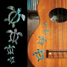 Honu Family (Abalone Blue) Inlay Stickers Decals Ukulele