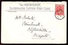 Channel Islands JERSEY 1909 front letter card fine SAMARES postmark cancel