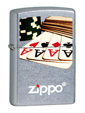 ZIPPO POKER 12F002 Accendino Collezionismo Lighter Idea Regalo Asso Carte Gioco