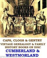 Cumberland Westmorland Cumbria Genealogy History Topo Vintage Books on Data Disc