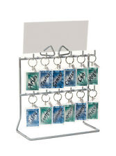 Compact 12 hook key ring / keyring / key fob / jewellery counter display stand