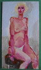 Blanco Bikini Desnudo : Impresionista Pintura Al Óleo de Alexei Petrenko
