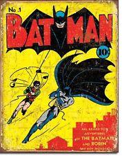 Batman Vintage Design Metall Deko Schild Plakat  - Cover Heft 1