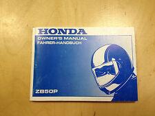 Honda ZB 50 p manual de instrucciones/conductor manual (1988)