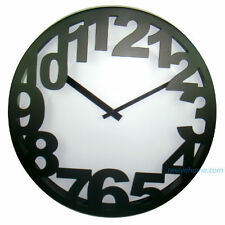 Unique Edge Numbers Wall Clock | Contemporary Chic Gift | Come in 2 colours