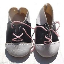 Vintage 1950'S BLACK & WHITE Small Saddle Doo Wop School Girl DOLL Shoes
