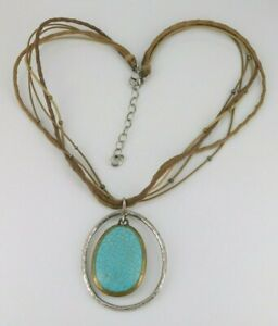 "Silpada 925 Sterling Silver & Brass Howlite Necklace 17"" - 19.25"" Long N1804"