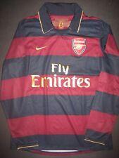 2007-2008 Nike Arsenal FC Herbert Chapman Long Sleeve Away Jersey Shirt Kit LS