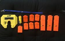 Lot of 13 Nerf Accessories Magazines, Strap, Tactical Light, & Shield