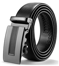 ITIEZY Genuine Leather Belt for Men Ratchet Automatic Buckle Sliding Buckle 35mm