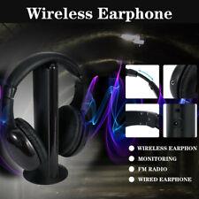 NEW ACCELERATE 5 IN 1 WIRELESS HEADSET HI FI HEADPHONE FOR TV MP3 PC FM RADIO