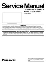 Panasonic TC 55CX650U 4K Ultra HD Smart TV Service Manual