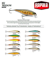 Rapala BX® Minnow Floating Fishing Lure 7cm - 10cm 7g - 12g Various Colours