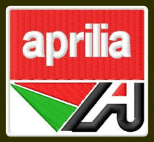"APRILIA A EMBROIDERED PATCH ~2-3/4"" x 2-1/2"" MOTORCYCLE BORDADO PARCHE AUFNÄHER"