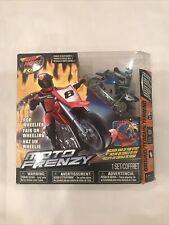 Air Hogs R/C Moto Frenzy Motocross Blue Bike Motorcycle Radio Control Toy