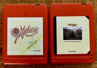 2 lot 8-Track tapes Melanie (2) – Stoneground Words/ Melanie At Carnegie Hall