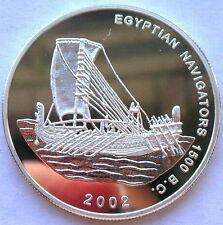 Ghana 2002 Egyptian Navigators 500 Sika Silver Coin,Proof