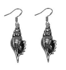 Sterling Silver 925 Earrings conch Ocean striped fox Sea shell Seashell beach
