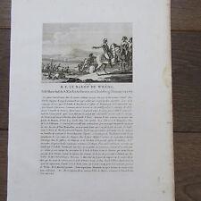 GRAVURE 1830 S.E. LE BARON DE WREDE NÉ A HEIDELBERG 1767 MAR. DU ROI DE BAVIERE
