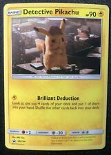 Detective Pikachu HOLO PROMO Pokemon SM194 Holographic Foil Black Star Rare - LP