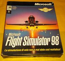 FLIGHT SIMULATOR 98 Pc Versione Italiana 1ª Edizione Big Box ○○○○ COMPLETO