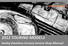 2012 Harley Touring OEM Factory Service Shop / Repair CD Manual