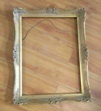 Vintage Large Wood Frame Ornate Gold Leaf Fancy French Style Art Painting Photo