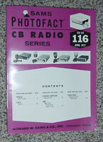 SAMS PHOTOFACT CB RADIO SERIES  VOLUME #116 APRIL 1977 KRACO PACE SBE TRUETONE